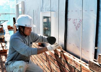 レンガの外壁調査