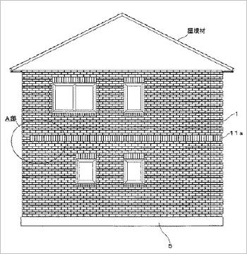 レンガ積み建築物のレンガ壁面装飾配筋方法