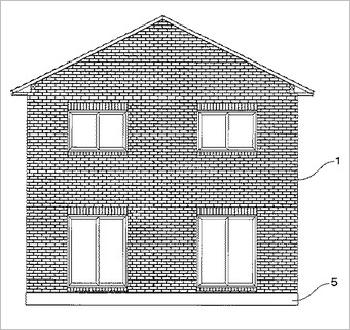 レンガ積み建築物のレンガ壁面耐震配筋方法